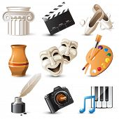 stock photo of comedy  - 9 highly detailed  arts icons - JPG