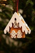 stock photo of gingerbread house  - Handmade christmas toys - JPG
