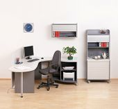 picture of business-office  - Modern business office with one workplaces - JPG