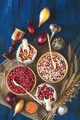 Assortment Of Kidney Bean - Mung Bean, Red Kidney Bean, White Bean, Brown Bean, Indian Corn, Pumpkin poster