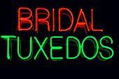 image of matron  - Bridal Tuxedos neon sign - JPG