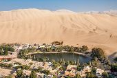 Huacachina Oasis In The Ica Region, Peru poster