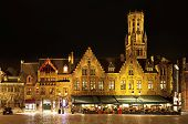Bourg Square At Night, Bruges. Belgium