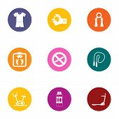 Physical Culture Icons Set. Flat Set Of 9 Physical Culture Vector Icons For Web Isolated On White Ba poster