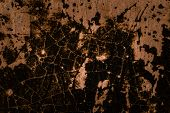 Mystical Texture Of Dark Vintage Tile With Putty Patterns Close-up Mysterious Background poster