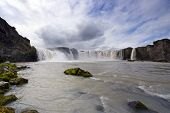 The Godafoss Waterfall in Iceland (the waterfall of the gods) is one of Iceland's most spectacular w
