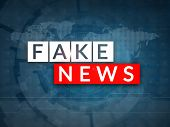 Fake News Television Broadcast Screen Illustration. Fake News And Misinformation Concept. poster