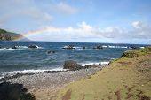 stock photo of oddities  - Double Rainbow on the backside of Maui - JPG