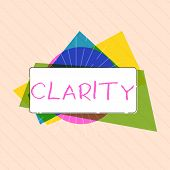Word Writing Text Clarity. Business Concept For Being Coherent Intelligible Understandable Clear Ide poster