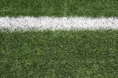 stock photo of football field  - Yard Line of a Football Field with room for copy - JPG