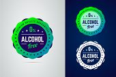 Premium Quality Guarantee Non-alcoholic Product Vector Label. poster