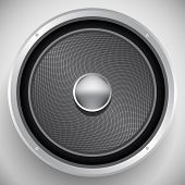 Audio speaker icon - vector illustration