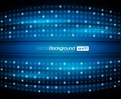 picture of distortion  - EPS10 Abstract Blue Lights Vector Backround - JPG