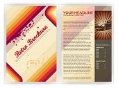 picture of brochure design  - Retro Brochure Template  - JPG