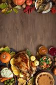 Thanksgiving Dinner Background poster