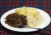 foto of haggis  - A Burns Night supper of haggis - JPG