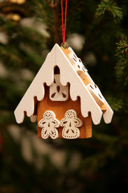 stock photo of gingerbread house  - Handmade christmas toys - JPG