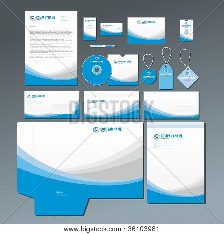Blue stationery set