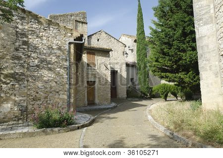 street of old village in Provence