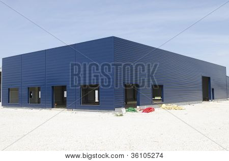 warehouse under construction