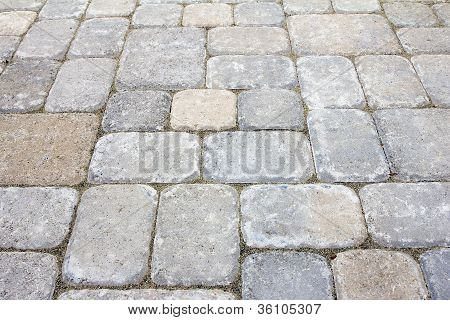 Backyard Concrete Pavers Patio