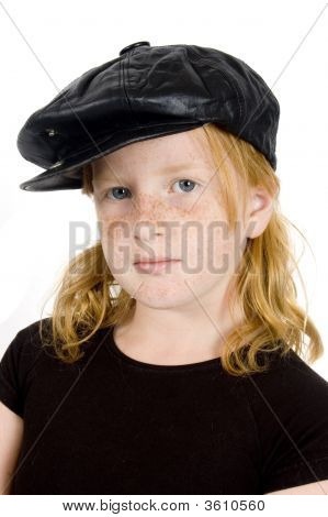 Sailor Girl With Black Hat
