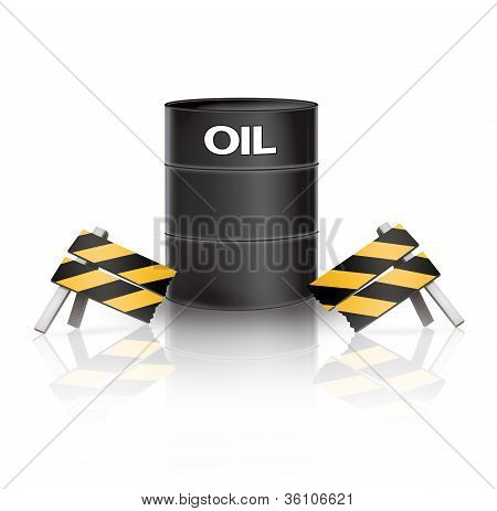 Broken Oil Barrier