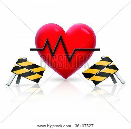 Broken Barrier to Health Heart