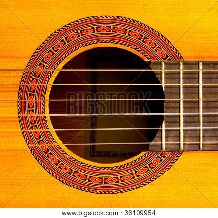 Sound Hole Of Classic Guitar