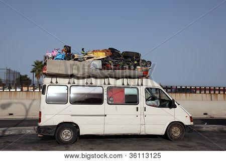 Overloaded Van