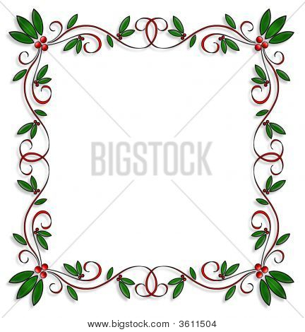 Christmas Border Square