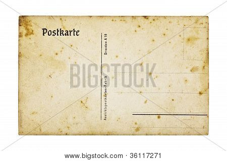Antigua postal alemán