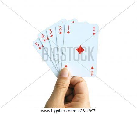 Hand Of Cards, Diamonds From Ace To Five