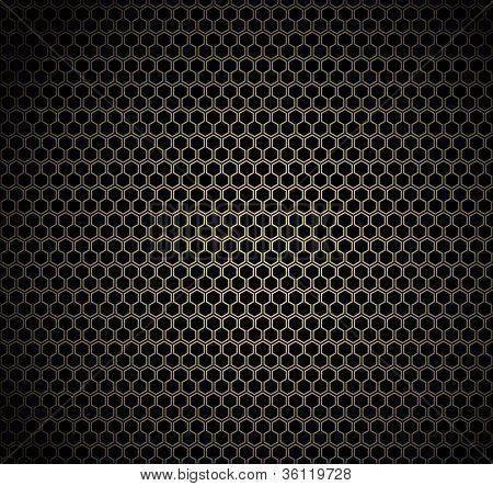 Gold honeycomb background
