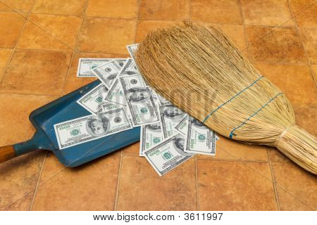 Money And Broom