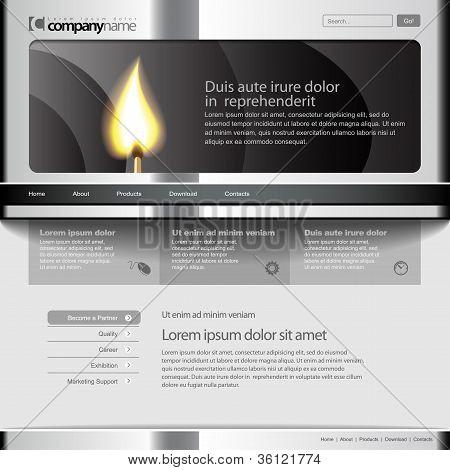 Sitio web de gris plantilla 960 Grid.