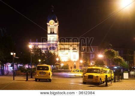 Taxi Rank By Night