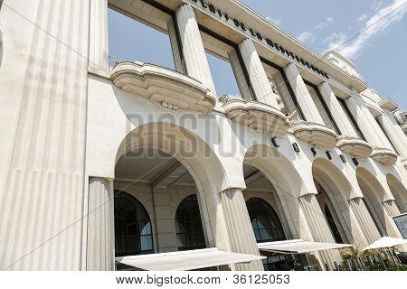 Facade Of Famous Palais De La Mediterranee Hotel