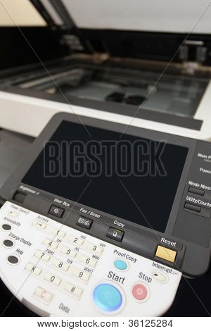 Botões do teclado da copiadora Laser