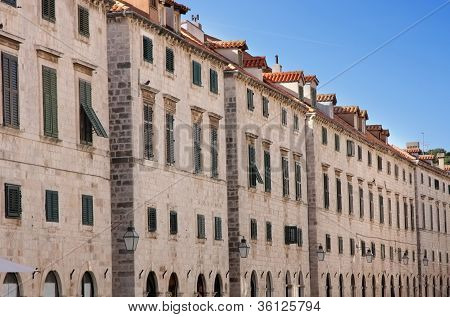 Dubrovnik Old City Street Plaza Stradun, Croatia