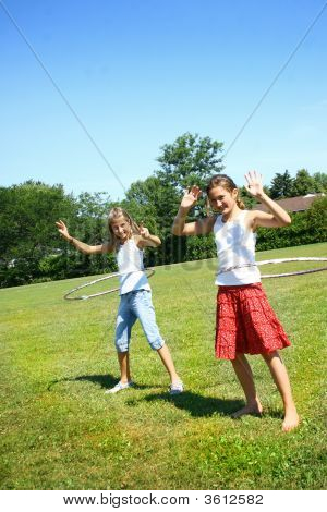 Young Preteens With Hula Hoop