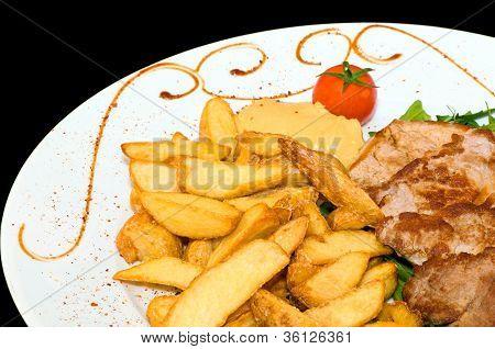 Lunch (pork and potato)