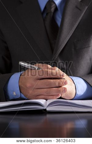 Businessman Ready For Meeting