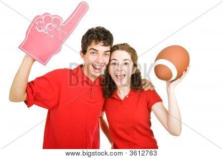 Teen Couple - Football Fans