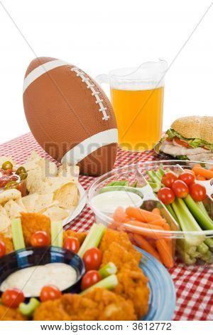 Super Bowl Party Table