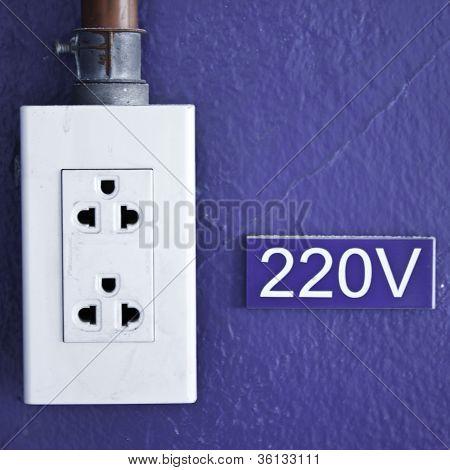 Power Socket 220V Of Factory.