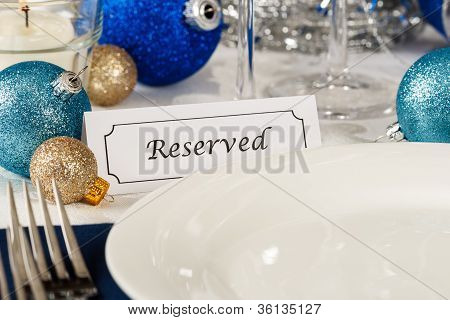 Reserved Holiday Table Setting