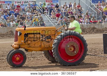 Minneapolis Orange & Red Tractor