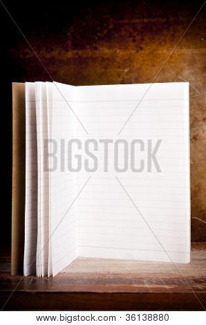 Bloc de notas en blanco Vintage