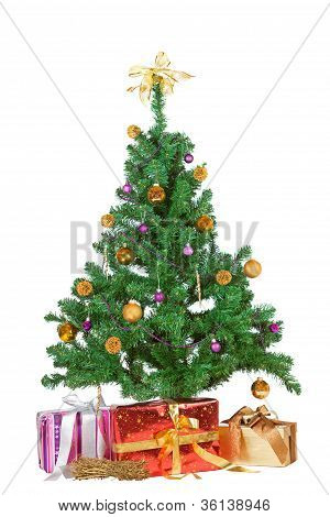 Christmas Tree With Decorative Gifts